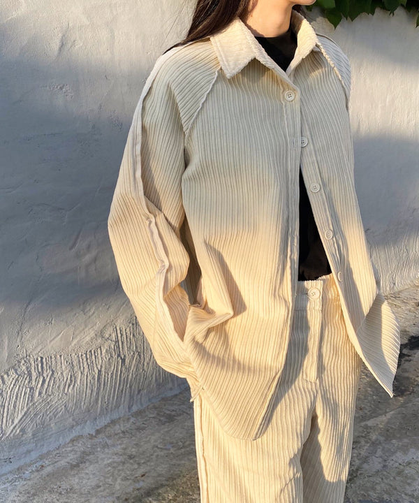 Oversized corduroy shirt jacket | The Dallant | Korean Independent Designers