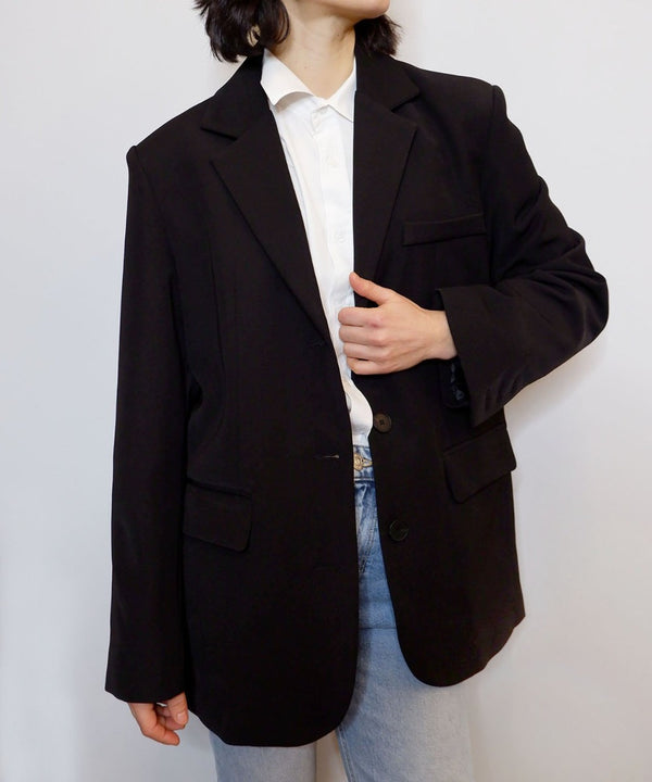 Oversized black classic blazer - The Dallant