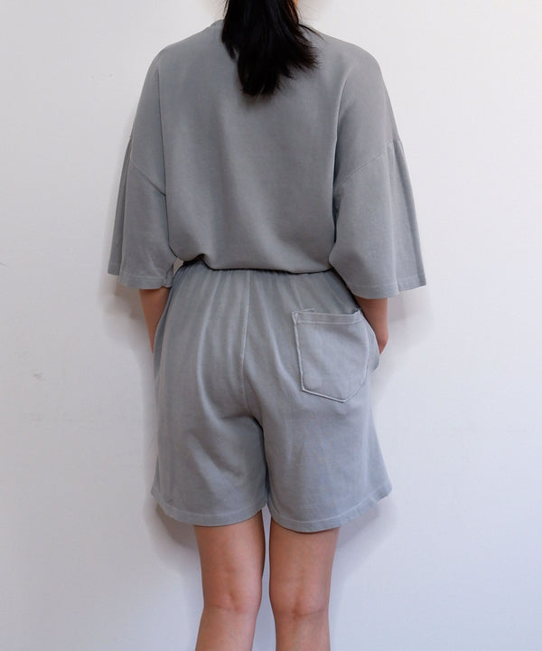 Vintage wash sweat shorts