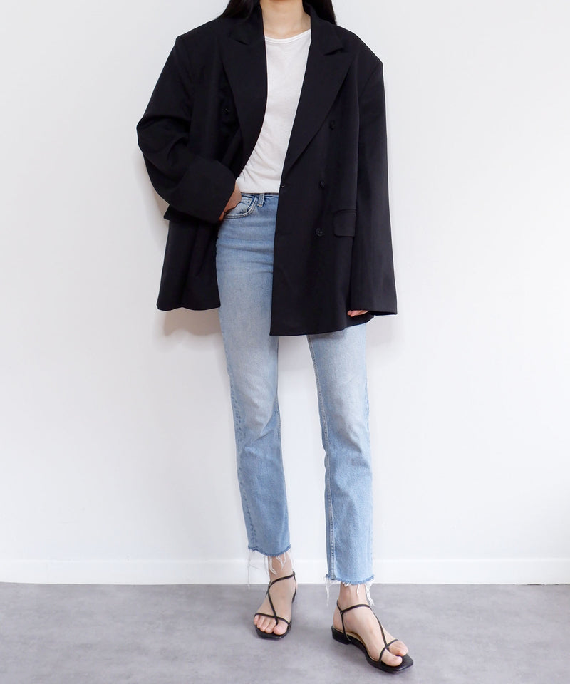 Super oversized double-breasted black blazer | The Dallant | Korean Fashion Designers