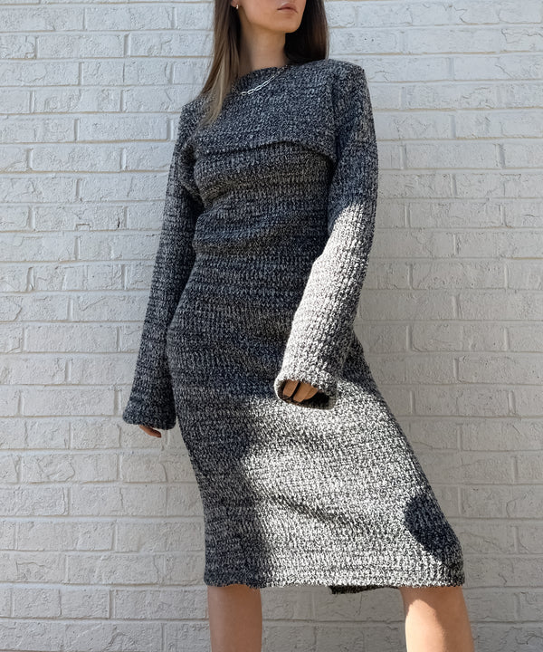 Two-piece bolero knit midi dress | The Dallant | Korean Independent Designers
