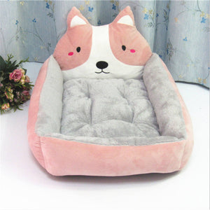 Cute Plush Cat Bed