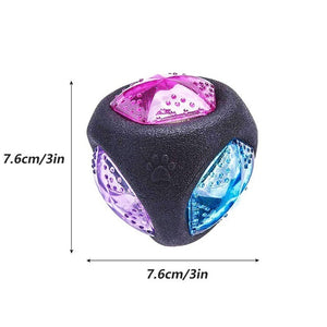 ELASTIC FLASHING BALL FOR DOGS, LIGHT-UP DOG TOY, SQUEAKY DOG TOY, INTERACTIVE TOY FOR DOGS