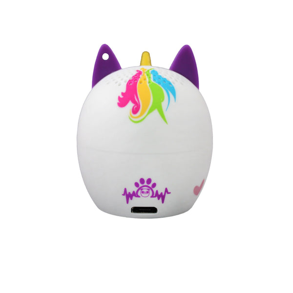 My Audio Pet UniChord Wireless Bluetooth Speaker with True Wireless Stereo Magical Unicorn showing the authentic brand mark on the rear