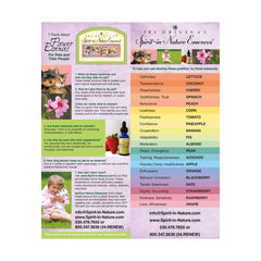 Downloadable PDF - Spirit-in-Nature Essences Flyer for Pets