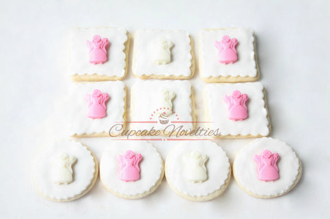 Angel Cookies Fairy Cookies First Holy Communion Cookies Christening Cookies Baptism Cookies Baptism Favors Fairy Birthday Fairy Party Favor