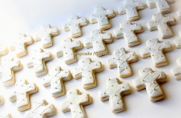 First Communion Cookies Baptism Cookies Christening Cross Cookies Gifts Custom Decorated Sugar Cookies Edible Christian Baptism Favors Dessert