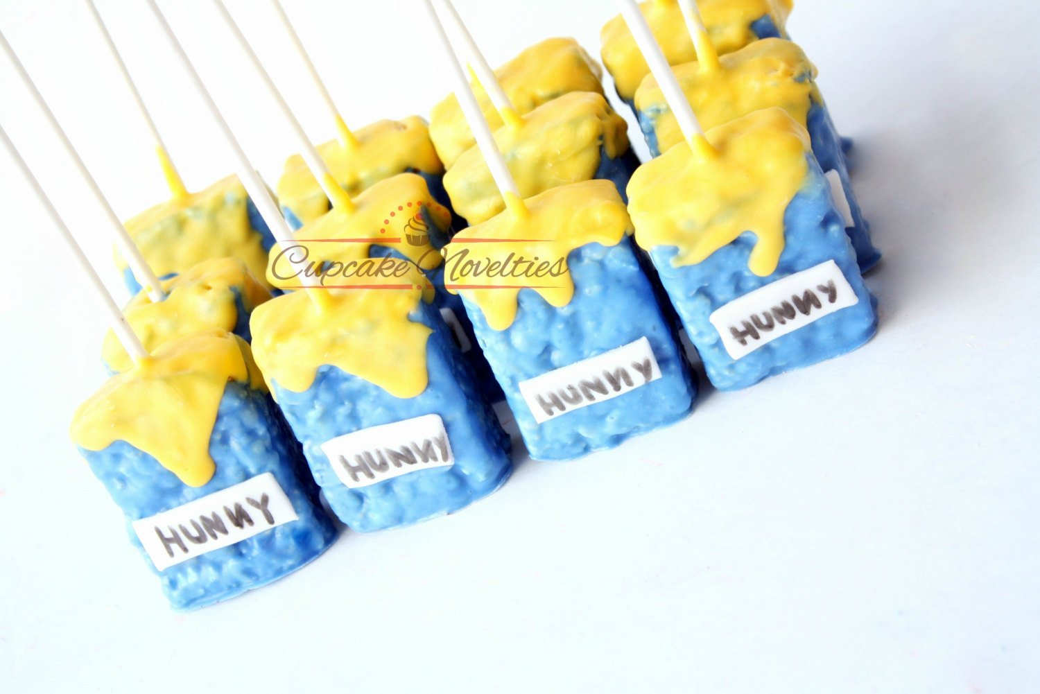 Winnie The Pooh Birthday Winnie the Pooh Baby Shower Winnie the Pooh Cookies Chocolate Rice Krispie Treats Pooh Baby Shower Hunny Pots