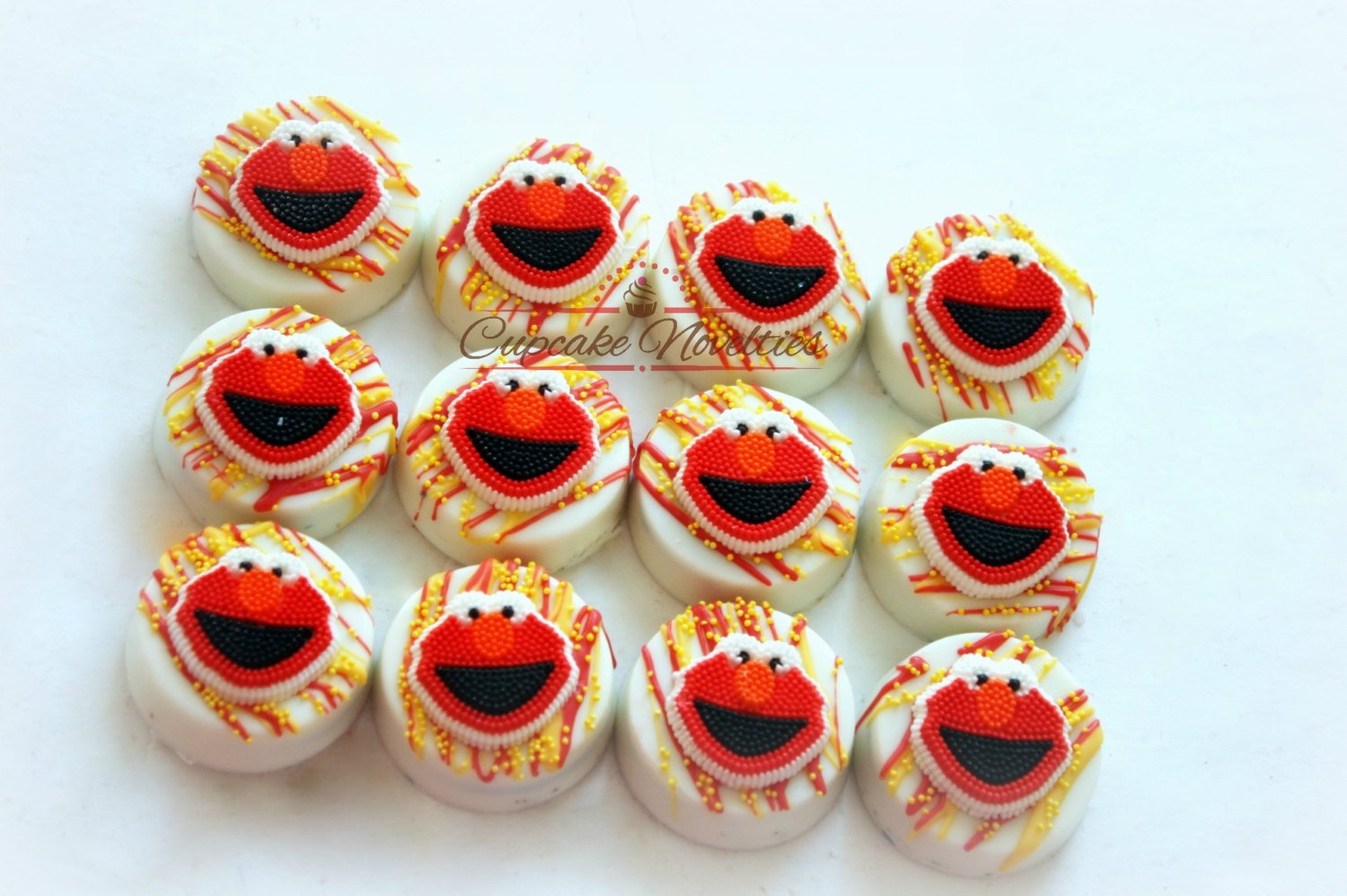 Elmo Cookies Elmo Birthday Party Favors Elmo Party Sesame Street Birthday Party Chocolate Oreos Dessert Table Classroom Treats Gifts Idea