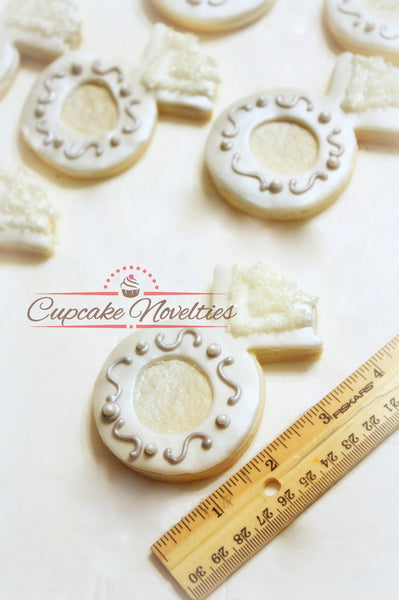 Engagement Ring Cookies Wedding Cookies Wedding Favors Bridal Shower Cookies Bridal Shower Favors Wedding Cake Cookies Bachelorette Party