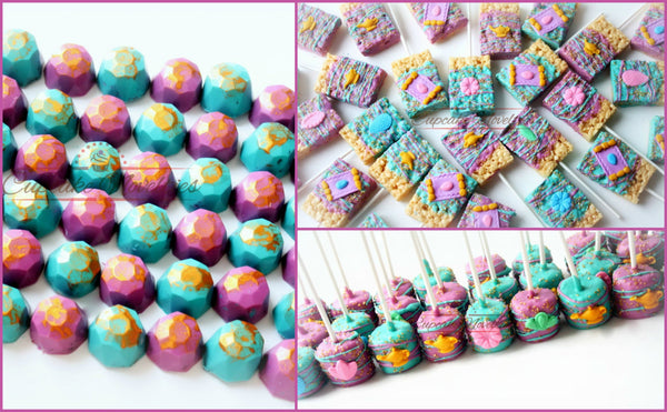 Shimmer and Shine Birthday Shimmer and Shine Party Favors Shimmer and Shine Cookies Genie Lamp Chocolate Jewels Favors Marshmallows Gemstone