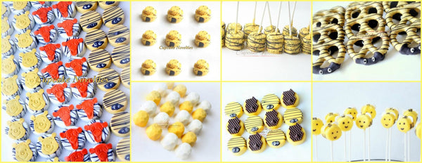 Bumble bee Birthday Party Bumble Bee Baby Shower What Will it Bee Gender Reveal Favors Bee Cookies Bee Marshmallows Pooh Birthday Pooh Baby