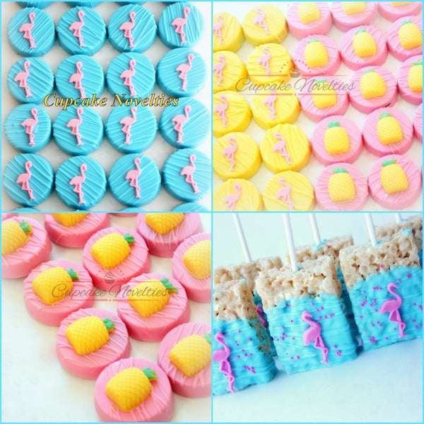 Flamingo Cookies Flamingo Favors Chocolate Rice Krispies Pop Pink Flamingo Party Pink Flamingo Birthday Tropical Party Summer Lets Flamingle