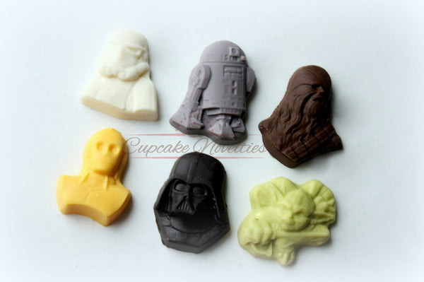 Star Wars Birthday Star Wars Party Star Wars Favor Star Wars Chocolate Candy Star Wars Cookies Star Wars Baby Gift May the Force Be With You