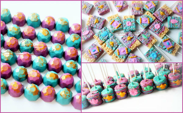 Shimmer and Shine Birthday Shimmer Shine Party Favors Magic Carpet Genie Lamp Chocolate Rice Krispie Treats Shimmer Shine Cookies Jewels Gem