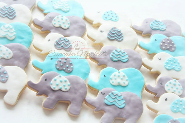 Elephant Baby Shower Boy Baby Shower Blue Gray Elephant Cake Pops Girl Baby Shower Pink Gray Elephant Cookies Birthday Elephant Baby Favors