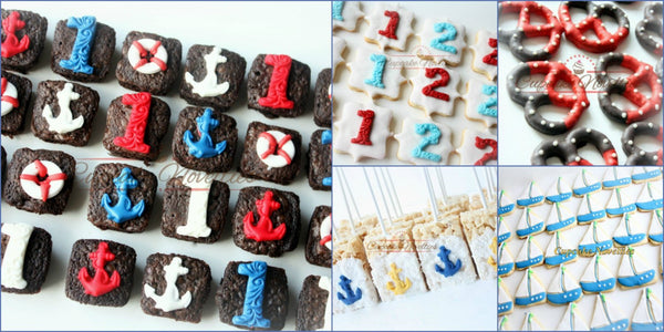 Nautical Birthday Nautical Baby Shower First Birthday Cookies Sailor Baby Shower Sailor Birthday Under the Sea Party Favors Ahoy Its A Boy