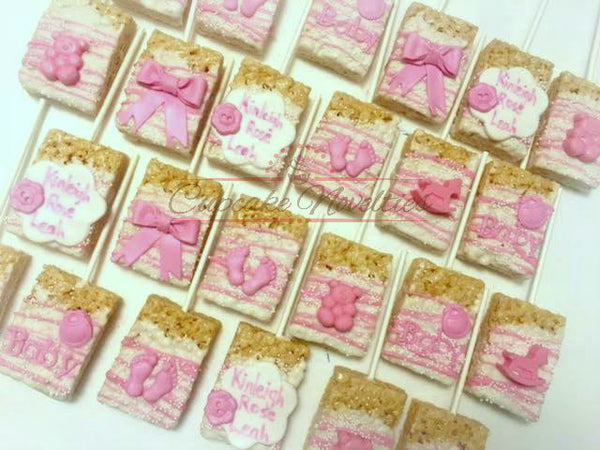 Baby Shower Cookies Boy Baby Girl Baby Things Chocolate Rice Krispie Treats Gender Neutral Baby Shower Favor Baby Footprints Baby Sprinkle