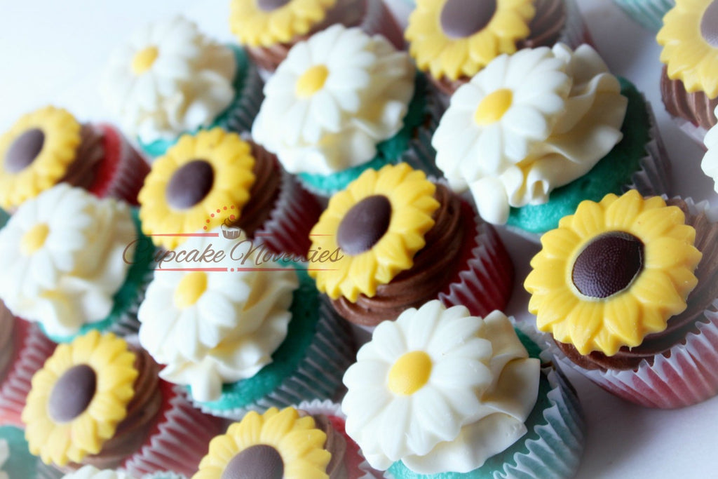Fantastic Cowgirl Birthday Party Spring Cupcakes Rustic Sunflower Cupcakes Personalised Birthday Cards Sponlily Jamesorg