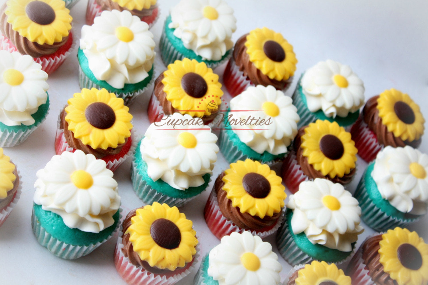 Terrific Cowgirl Birthday Party Spring Cupcakes Rustic Sunflower Cupcakes Personalised Birthday Cards Sponlily Jamesorg