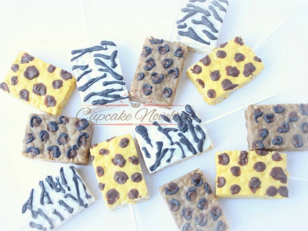 Jungle Cookies Jungle Birthday Safari Baby Shower Jungle Baby Shower Animal Print Rice Krispie Treats Animal Print Cookies Safari Cookies