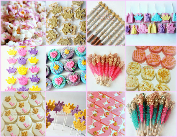 Unicorn Party Princess Cookies Princess Birthday Pink and Gold First Birthday Idea Pink Gold Baby Shower Princess Party Favor Glam Party Gem