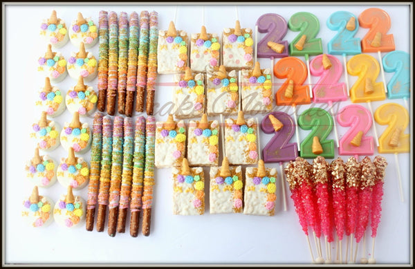 Unicorn Party Unicorn Birthday Favors Unicorn Lollipops Unicorn Cookies Rainbow Unicorn Party Gold Rainbow Birthday Gold Unicorn Birthday