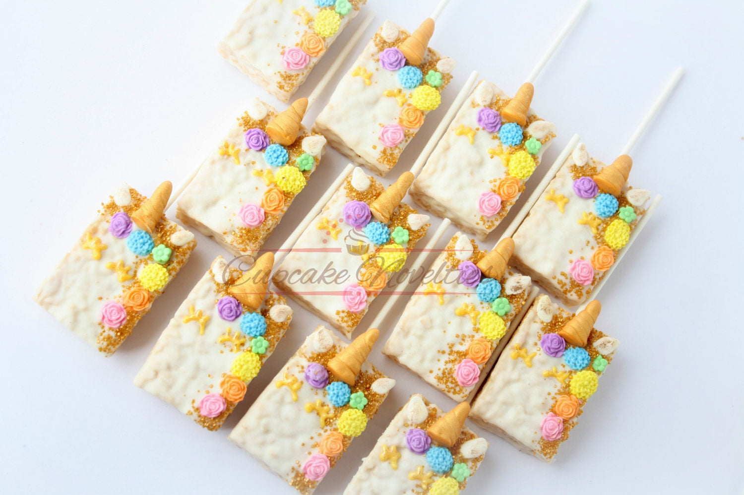 Unicorn Party Unicorn Birthday Favors Unicorn Rice Krispie Unicorn Cookies Rainbow Unicorn Party Gold Rainbow Birthday Gold Unicorn Birthday
