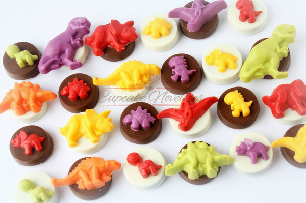 Dinosaur Birthday Dinosaur Chocolate Favors Dinosaur Cupcake Toppers The Good Dinosaur Dinosaur Baby Shower Trex Party Dinosaur Cake Topper