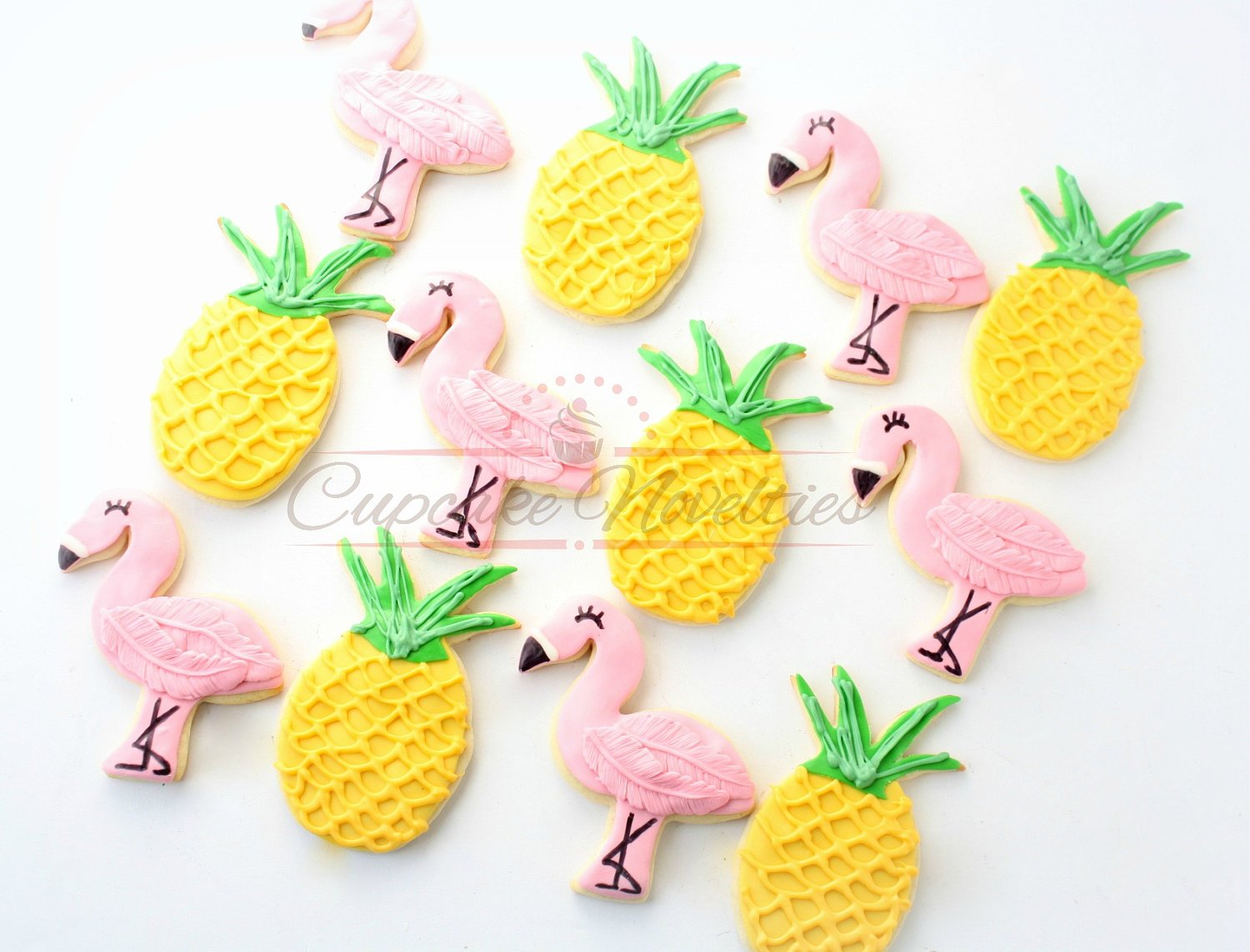 Pineapple Cookies Flamingo Cookies Pineapple Party Twotti Frutti Birthday Flamingo Favors Tropical Party Cookies Lets Flamingle Summer Party