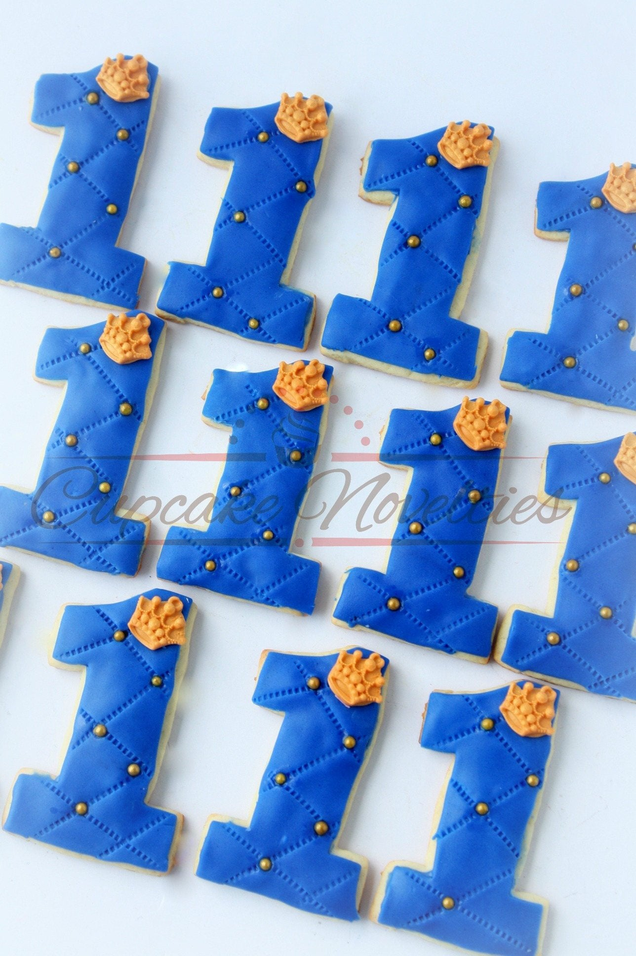 Royal Prince Birthday Royal Prince Cookies Crown Cookies Prince Favors Royal Prince First Birthday Navy Blue Gold Party Prince Party Favors