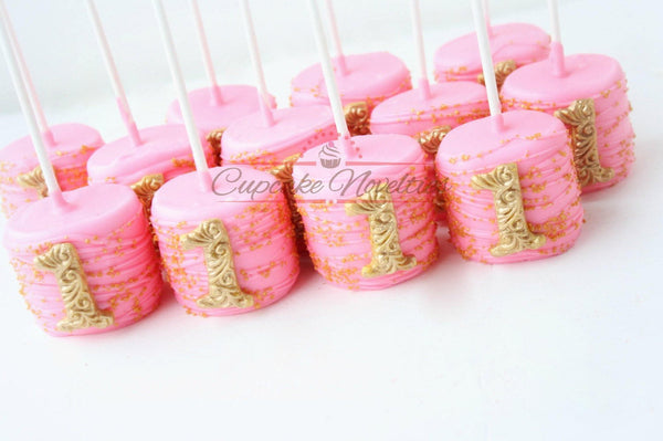 Pink and Gold First Birthday Pink Gold Birthday Favors Princess Birthday First Birthday Cookies Pink Gold Cookies First Birthday Decoration