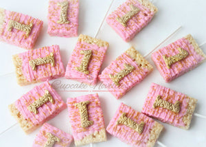 Pink and Gold First Birthday Pink Gold Birthday Favors First Birthday Cookies Princess Birthday Pink Gold Cookies First Birthday Decoration