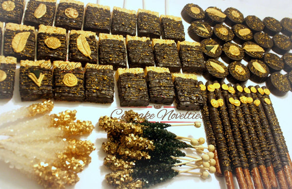 Gold Bridal Shower Gold Baby Shower Gold Wedding Favors Gold Cookies Art Deco Cookies Gold Rock Candy Great Gatsby Party 1920s Party Favor