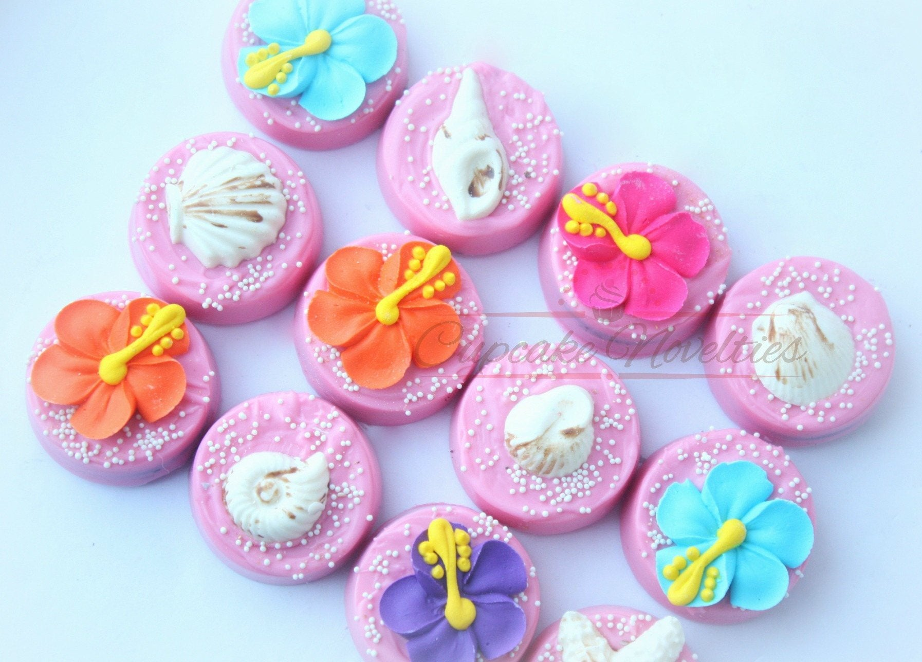 Moana Birthday Moana Party Favors Luau Cookie Luau Birthday Luau party Hawaiian Party Tropical party Beach Party Flamingle Tiki Party Oreos