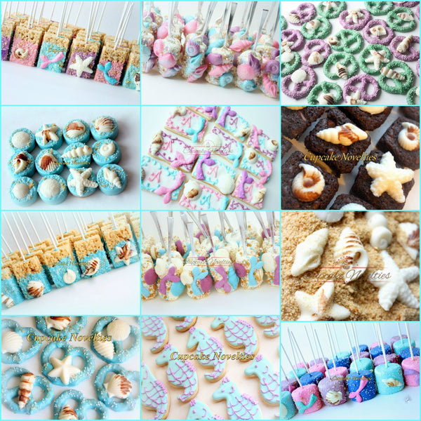 Under the Sea Birthday Baby Shower Bridal Shower Chocolate Seashells Ocean Beach Wedding Mermaid Birthday Favors Beach Wedding Favors Summer
