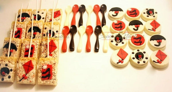 Tea Party Bridal Shower Tea Party Birthday Tea Party Baby Shower Mary Poppin Birthday Mary Poppin Baby Mary Poppins Cookies Chocolate Spoons