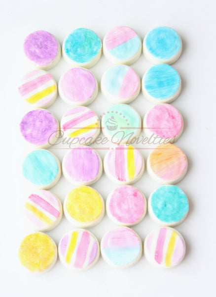 Paint Party Watercolor Cookies Art Birthday Watercolor Oreos Artist Birthday Paint Party Favors Painted Cookies Pastel Spring Wedding Favors