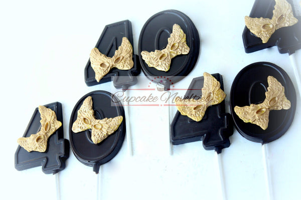 Masquerade Party Favors Masquerade Mask Cookies 40th Birthday Party Favors Chocolate Pop Mardi Gras Cookie New Year Cookies Masquerade Favor