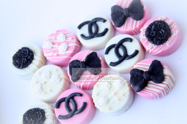 Bachelorette Party Fashionista Gift Chic Bridal Shower Teen Birthday Fashionista Party Favor Pink Black Party Chocolate Oreos Teen Girl Gift