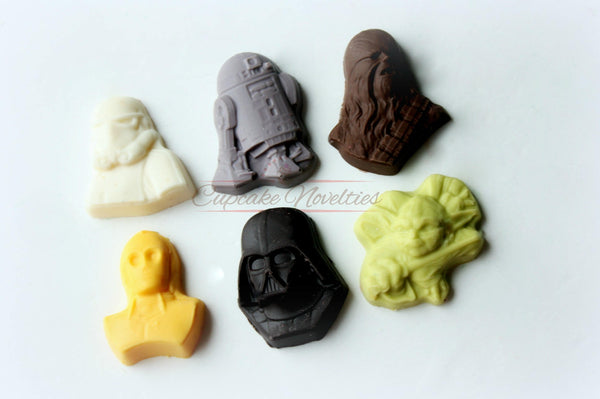 Star Wars Birthday Star Wars Party Star Wars Favors Darth Vader Cookies Yoda Cookies Star Wars Chocolate Rice Krispie Treats Star Wars Baby