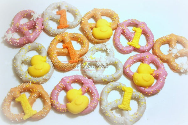 Rubber Duck Baby Shower Rubber Ducky Baby Shower Rubber Gender Neutral Baby Shower Cookie Chocolate Pretzels Rubber Duck Cookies Baby Favors