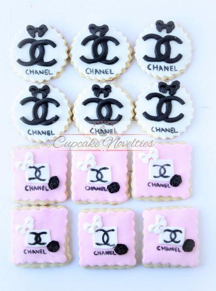 Bachelorette Party Favors Fashionista Gift Chic Bridal Shower Teen Birthday Fashionista Party Favor Pink Black Party Sugar Cookies Teen Gift