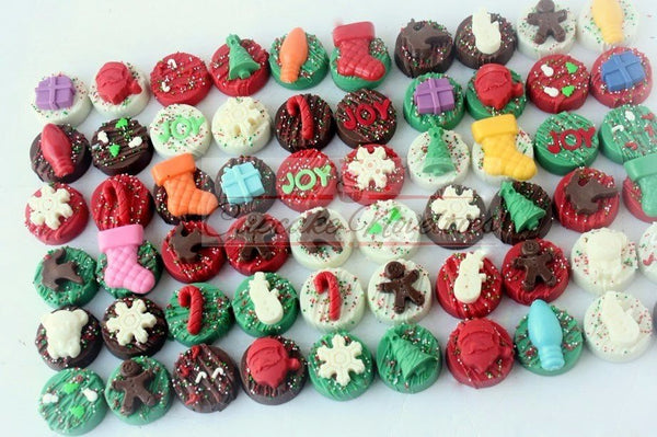 Christmas Cookies Holiday Cookies Holiday Party Favors Corporate Holiday Gifts Christmas Oreos Winter Party Christmas Tree Xmas Chocolate