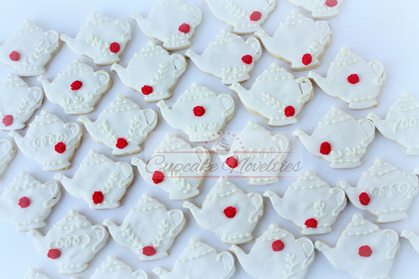 Tea Party Teapot Cookies Tea for Two Birthday Tea Party Bridal Shower Tea Bridal Shower Cookies Bridal Shower Favors Tea Party Baby Shower