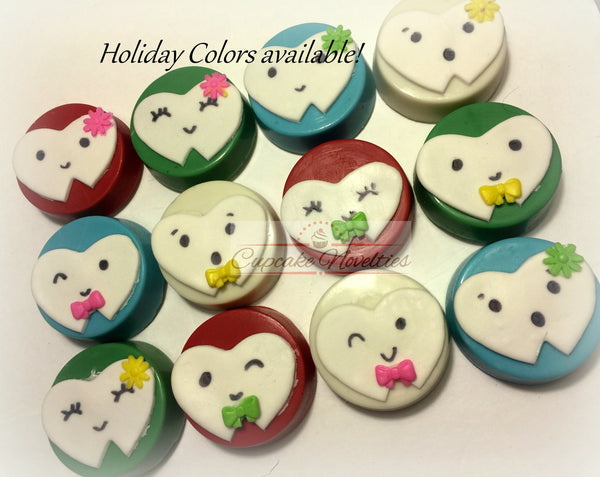 Dentist Gift Dentist Cookies Tooth Cookies Teeth Chocolate Oreos Dental Hygienist Assistant Tooth Fairy Dental Office Opening Party Favor