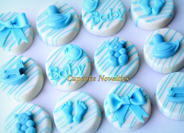 Baby Shower Cookies Boy Baby Girl Baby Things Chocolate Oreos Gender Neutral Baby Shower Bib Baby Shower Favor Baby Footprints Baby Sprinkle
