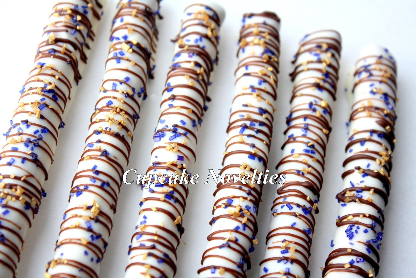 Gourmet Chocolate dipped Pretzels Dessert Table Party Favors Birthday Baby Shower Classroom Treats Edible Gifts Sprinkles Bridal Shower