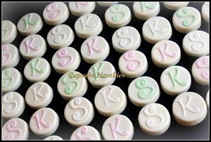 Monogram Cookies Initial Edible Wedding Favors Chocolate Oreos Pops Bride & Groom Gift Dessert Table Rehearsal Bridal Shower Dessert Ideas