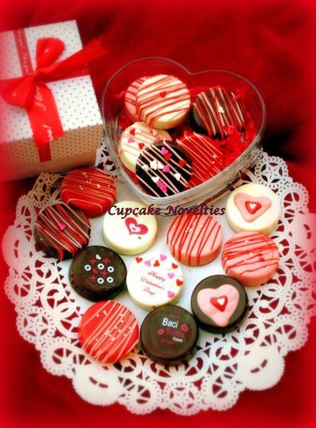 Valentine's Day Edible Gifts Chocolate Oreos Cookies Pops Love Message Hearts Kisses Anniversary Gift Party Favors Sweets Pink Red White